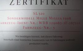 *** EXTREM seltener Mercedes SL R129 WELTWEIT nur 10 Stück Produziert !!! *** Mit Expertisen ! Nr5