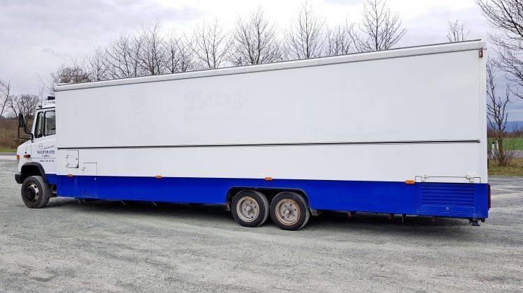Verkaufswagen EXTRALANG TOP Mercedes 810 mit ca 8 Meter langem Verkaufspult el. ausfahrbar !!! TOP wenig Km