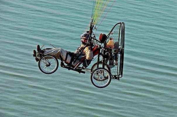 Ultraleicht Fliegendes Fahrrad …