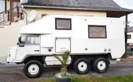 *** EINZIGARTIG EXTREM Expedition Wohnmobil PINZGAUER Diesel 6×6 PROFI SONDER Anfertigung FS:B ***