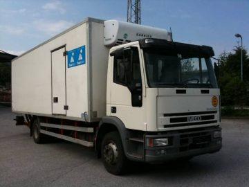 IVECO 130 E LKW mit Kühlkoffer ca 7 Meter u. Hebebühne